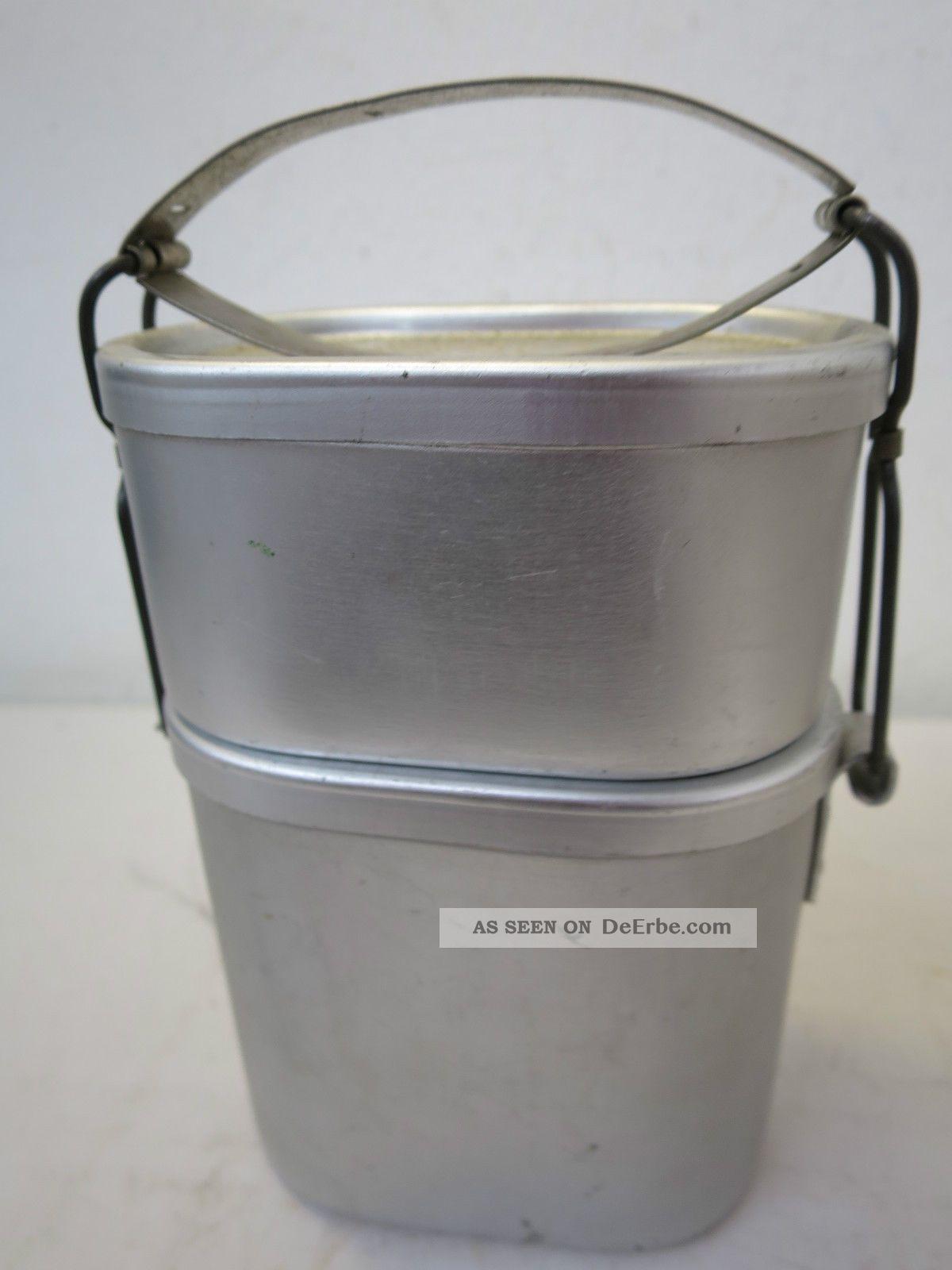 Ae31) Alter Markill Patent Essenträger / Henkelmann Aus Aluminium Vintage Gebr. Haushalt Bild