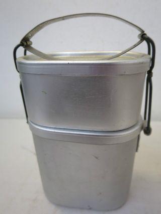 Ae31) Alter Markill Patent Essenträger / Henkelmann Aus Aluminium Vintage Gebr. Bild