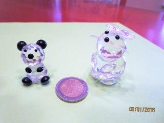 Tierfiguren Aus Sammlung,  Glasfiguren,  Glastiere,  Maus Und Teddy,  Swarovski Bild
