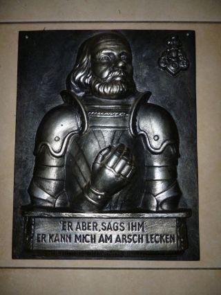 Götz Von Berlichingen - Portait Aus Gusseisen: