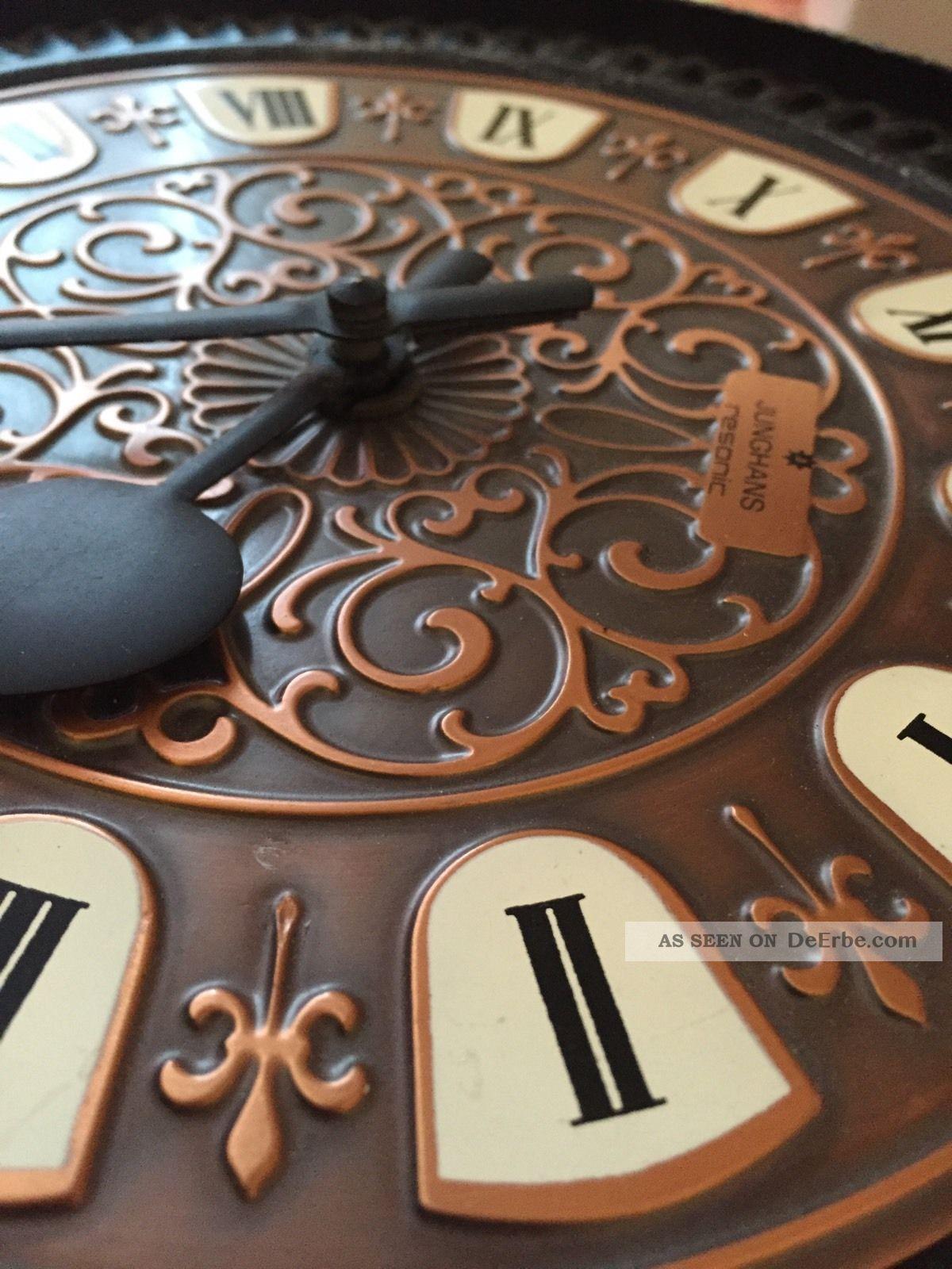 junghans resonic wanduhr rar ornamente gusseisen metall. Black Bedroom Furniture Sets. Home Design Ideas