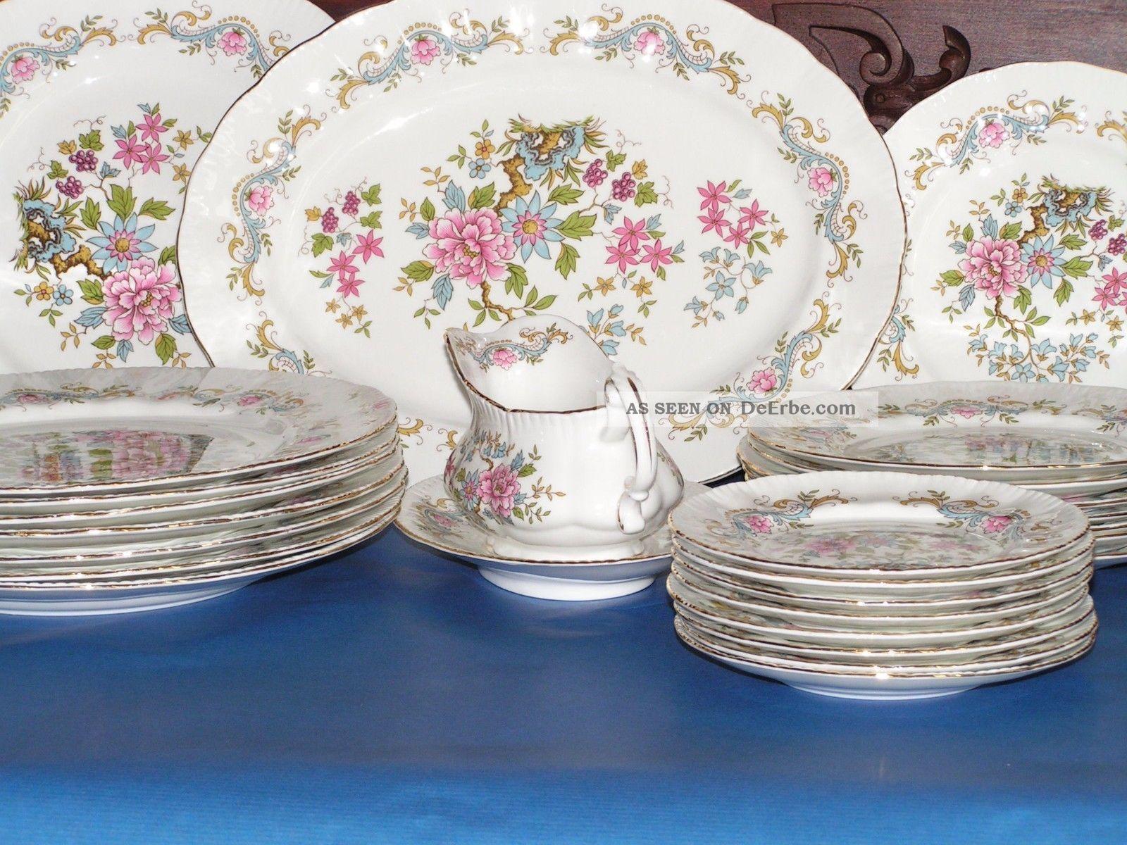 tafelservice 6 8 personen speiseservice england bone china royal standard. Black Bedroom Furniture Sets. Home Design Ideas