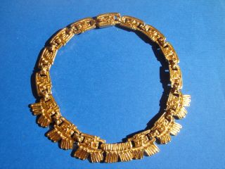 Azteken - Goldkette Aus Merida 1970,  Vergoldeter Blickfang,  Neuwertig Bild