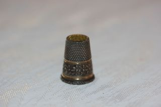 Sehr Schöner Fingerhut Echt Silber 800 Um 1900 Bild