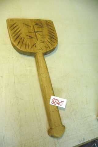 Nr.  8845.  Alter Wäscheklopfer Waschbrett Old Wooden Mangle Wash Scrub Board Bild