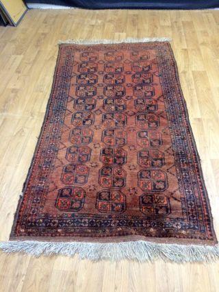 Antik Teppich Ersari Turkmene Um 1910/30 Orientteppich 205x113cm Afghan Bukhara Bild