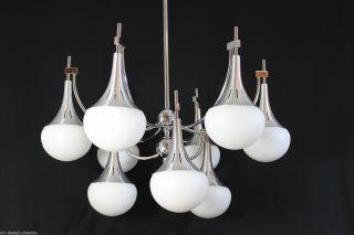 70er Xxl Chrom Lampe Hängelampe - Sputnik Design - Space Age - Reggiani Bild