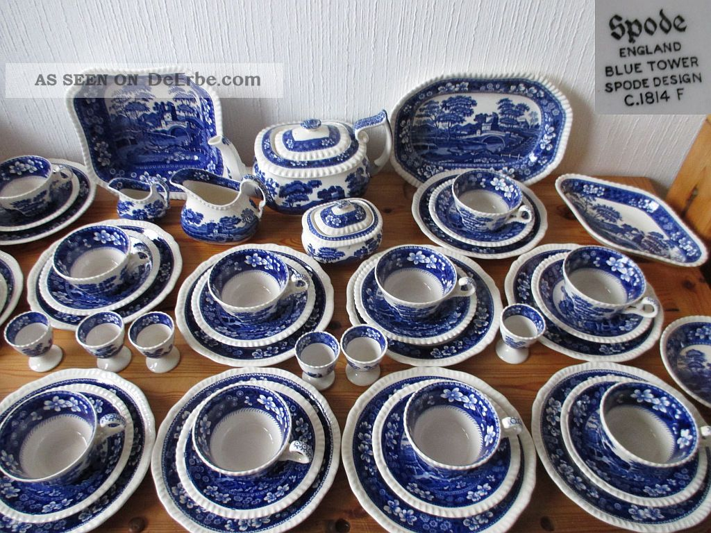Spode copeland blue tower