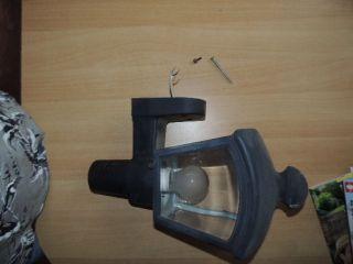 Alte Metall Aussen Lampe Antik Schwer Bewegungsmelder Glas Außenlampe Sammler Bild