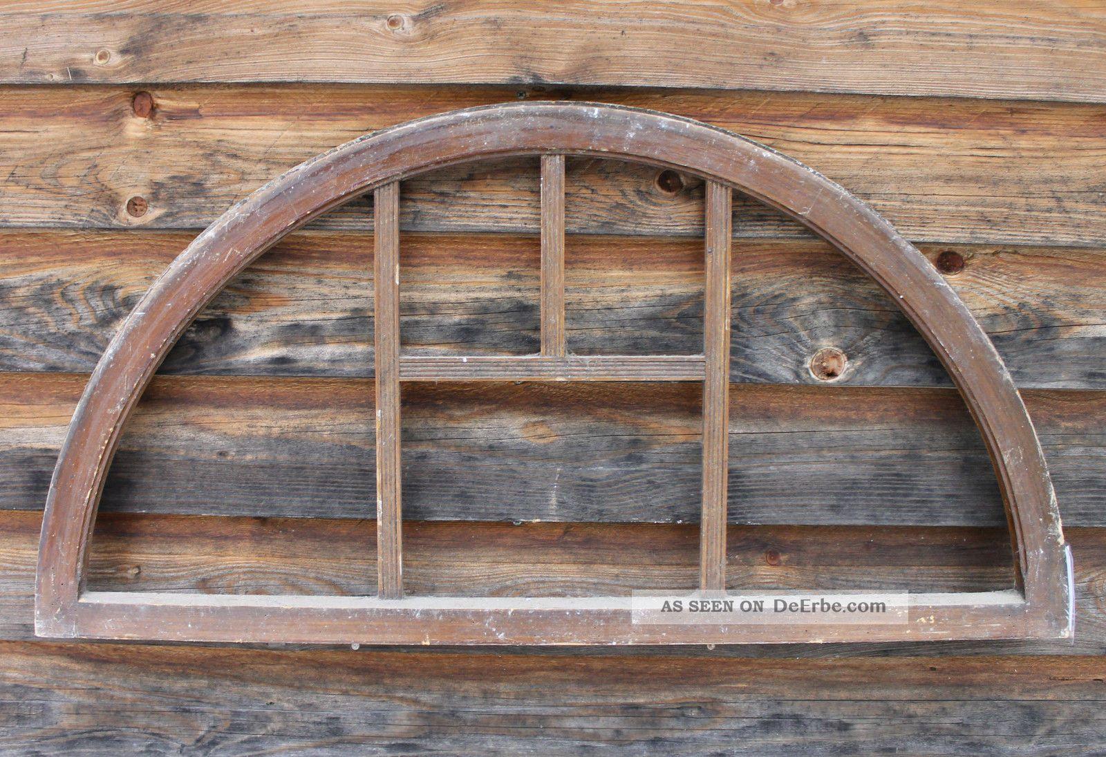antikes altes rundbogenfenster oberlicht holz fenster fotorahmen landhaus deko 1. Black Bedroom Furniture Sets. Home Design Ideas