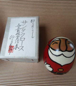 Holzfigur Japan Kokeshi Santa Claus Weihnachtsmann Holzarbeit Bild