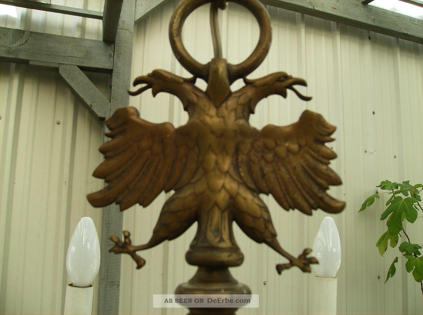 alter kronleuchter mit adler altmessing gebrstet 6 arme 6 flammig - Kronleuchter Mit Adler