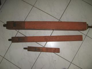 3 Alte Labialpfeifen Aus Holz,  Ca.  90cm Lang Bild