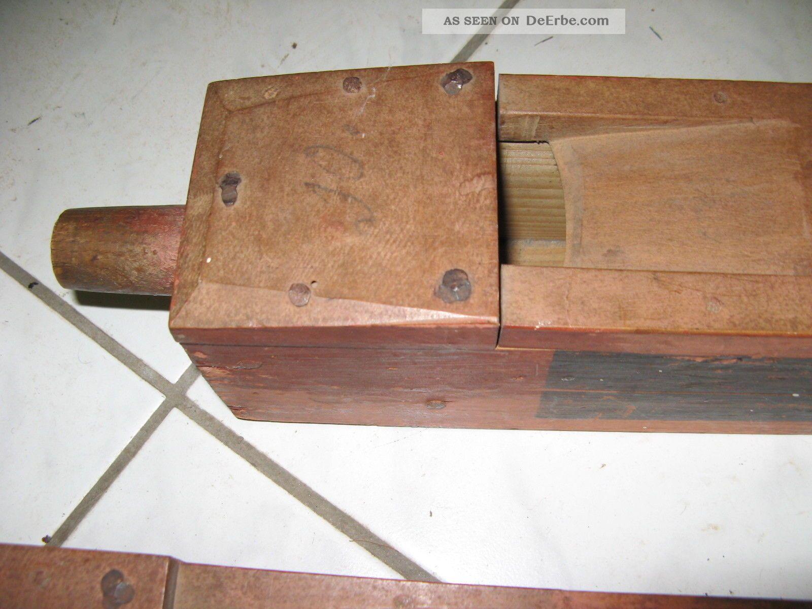 3 alte labialpfeifen aus holz ca 90cm lang for Alte obstkisten aus holz