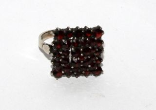 Granat Damen - Ring Antik - Schmuck Böhmen - Granat Tombak 5 Gramm 6026 Bild