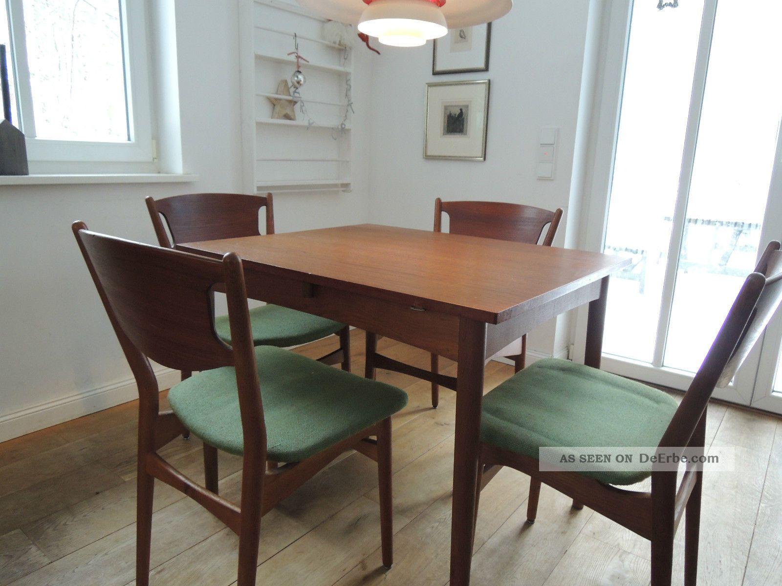 teak esszimmer xxl esstisch essgruppe 60er 50er mid. Black Bedroom Furniture Sets. Home Design Ideas