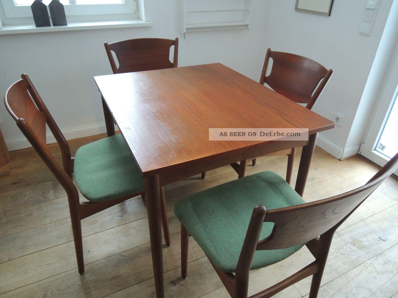 teak esszimmer xxl esstisch essgruppe 60er 50er mid century danish design. Black Bedroom Furniture Sets. Home Design Ideas