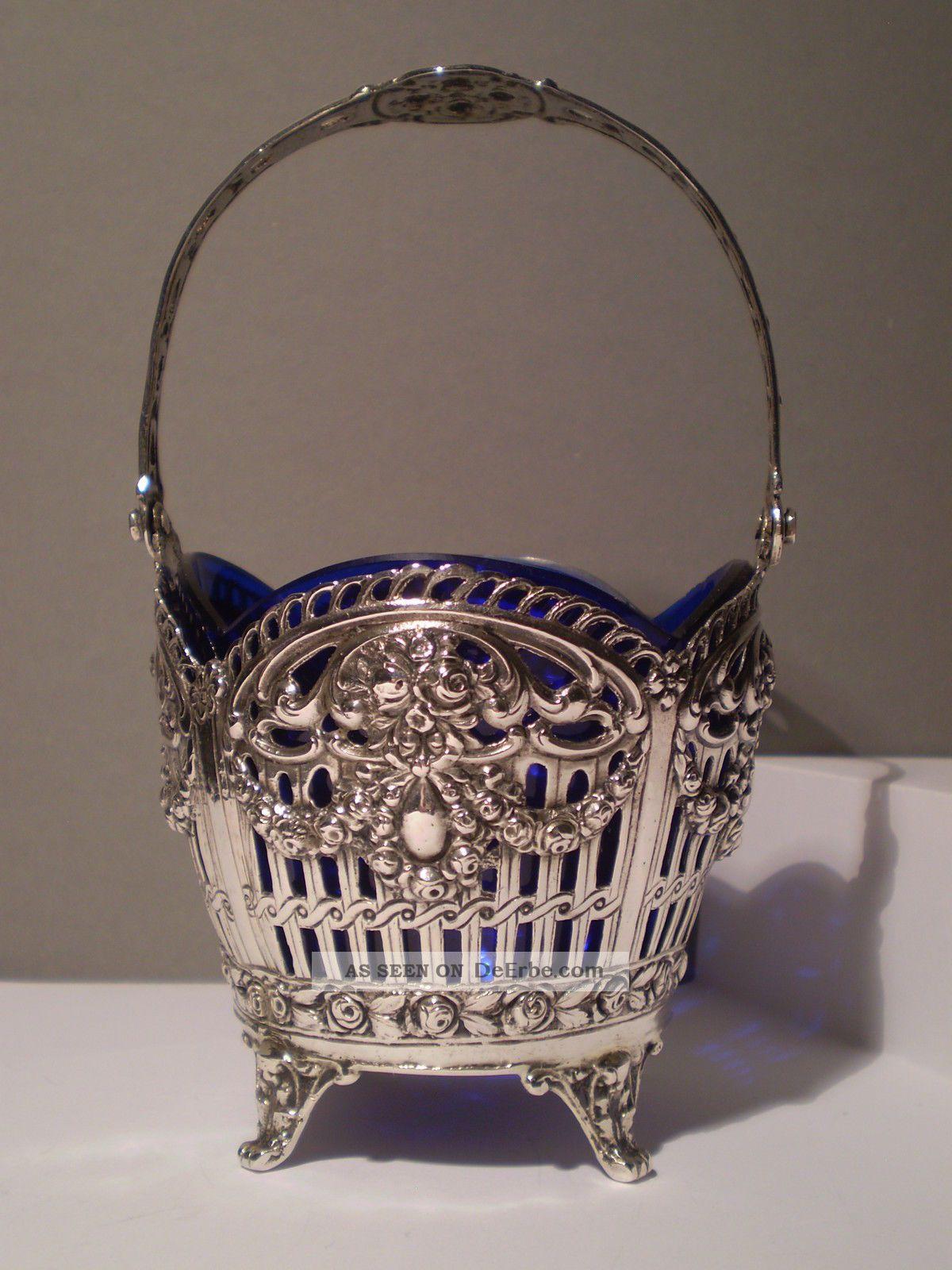 jugendstil silberschale kobaltblau perfekt 800 silber museumsst ck. Black Bedroom Furniture Sets. Home Design Ideas