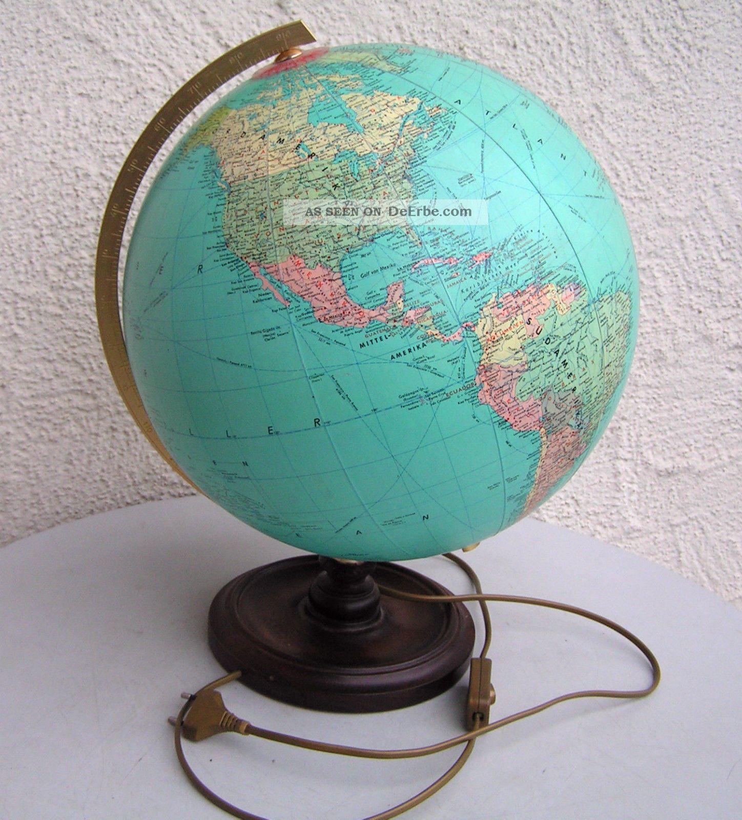 Globus Als Lampe : globus alt erdball weltkugel als lampe bzw beleuchtet 70er jahre holz fuss ~ Markanthonyermac.com Haus und Dekorationen