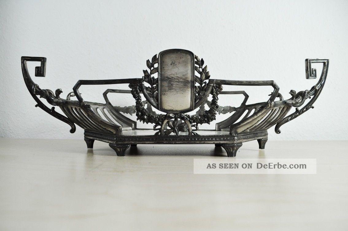 jugendstil wmf jardiniere tafelaufsatz versilbert art nouveau deco centerpiece. Black Bedroom Furniture Sets. Home Design Ideas