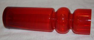 Große Hyazinthenvase Hyazinthenglas Rubinrot H.  25 Cm Dickwandiges Glas Ddr Top Bild