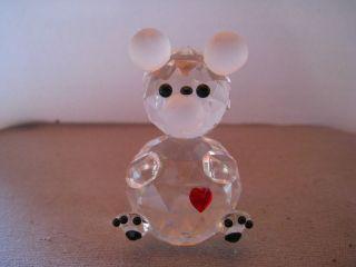 Süßes Janus Kristallglas Mäuschen 5 Cm Hoch Durchmesser 3 Cm Bild