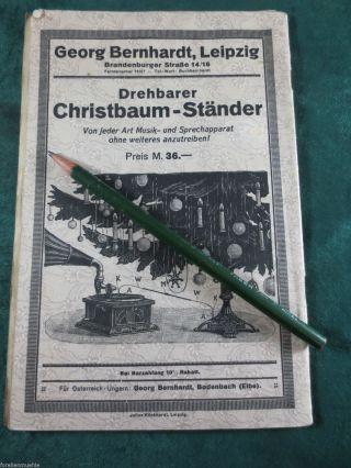 Katalog Um 1915 Musikinstrumente Kamera Schmuck Christbaumständer Spielwaren Rar Bild