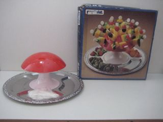 70er Party Pilz Tablett Käseigel Käsepilz Ovp Unbenutzt Vintage Retro Bild