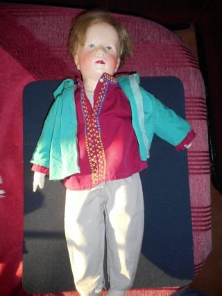 Käthe Kruse Hampelchen Junge Friedebald Ca.  51cm Antik Puppe Bild