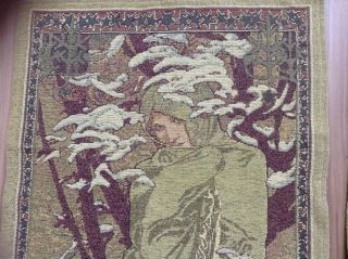 Gobelin Wandteppich Belgische Tapiserie The Four Seasons 1900 Alfons Mucha Bild