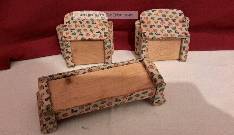 antikes sofa mit 2 sessel alte puppenstube 11. Black Bedroom Furniture Sets. Home Design Ideas