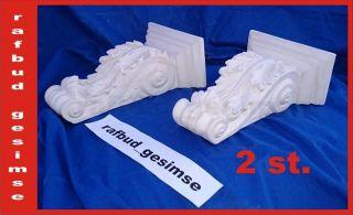 2 X Konsole Wandkonsole Stuckgips Dekorative Konsole Stuckkonsole Aus Gips Bild