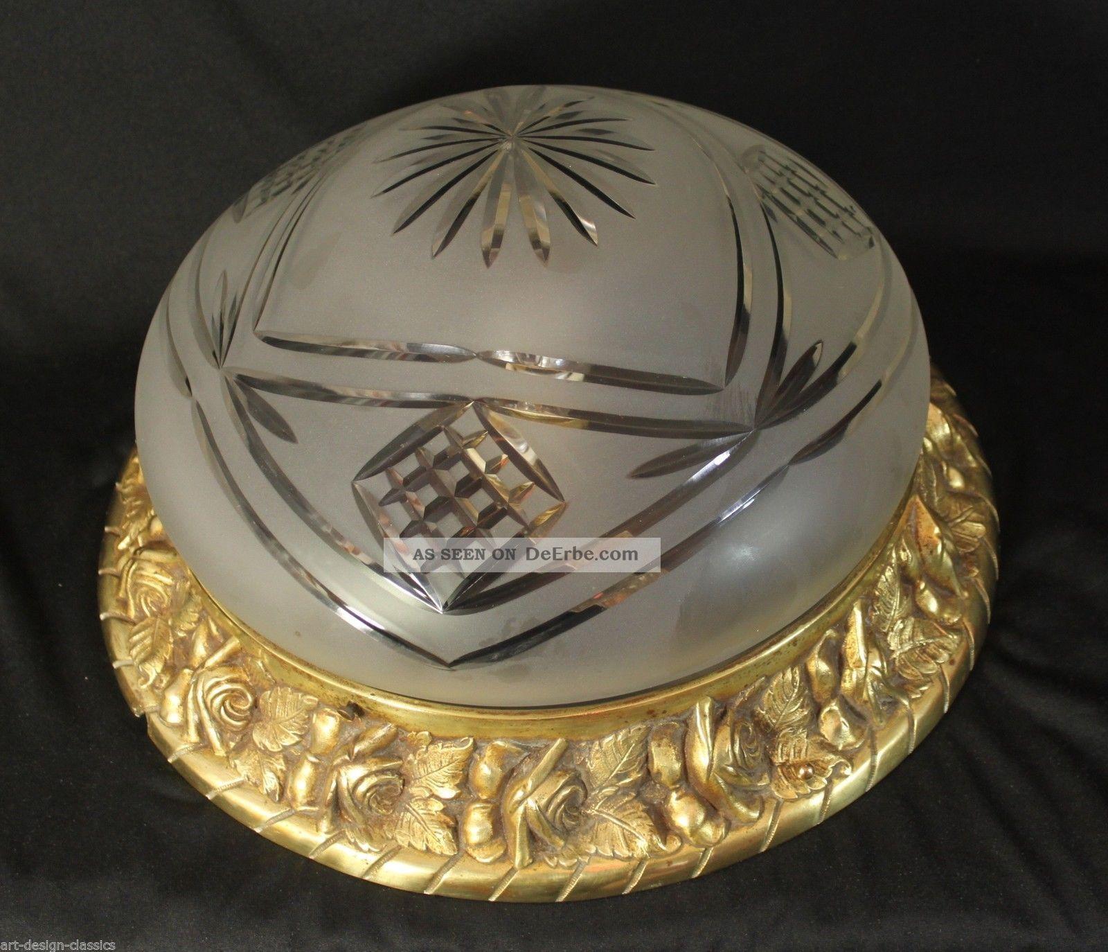 antike deckenlampe jugendstil antike jugendstil deckenlampe flurlampe bronze kristallglas eur. Black Bedroom Furniture Sets. Home Design Ideas