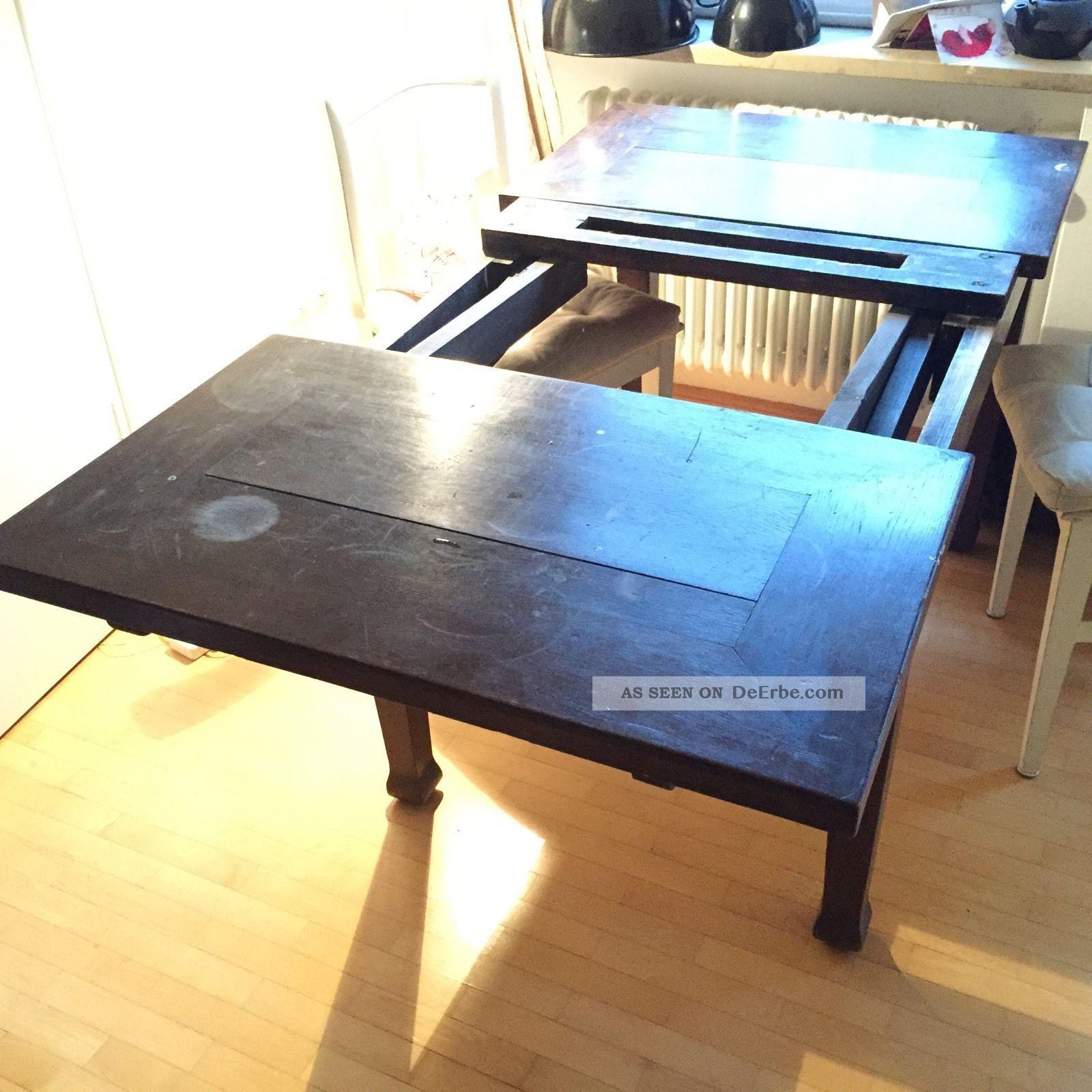 Tisch antik esstisch ausziehbar 110 x 80 cm for Esstisch 100 x 80 ausziehbar