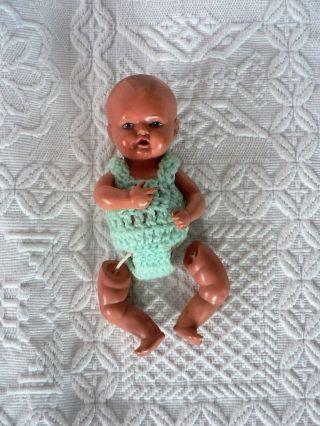 Baby Puppe Schildkröt 15cm Groß (nummer 16 16/2) Beine Noch Fixieren. Bild
