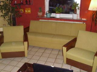 60er 70er Jahre Schlafcouch,  2 Sessel In Curry Bild