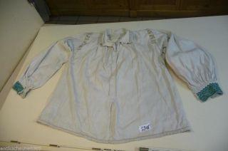 5918.  Alte Leinen Trachtenbluse Bluse Hemd Bild