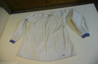 5919.  Alte Leinen Trachtenbluse Bluse Hemd Bild
