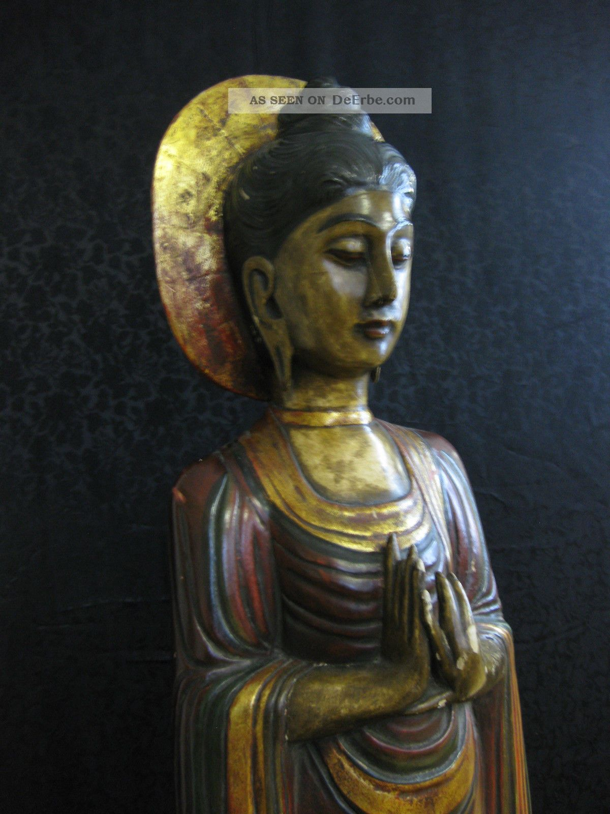 sawadee holzfigur figur buddha mudra thailand asien 105 cm handgefertigt. Black Bedroom Furniture Sets. Home Design Ideas