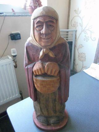 Holzfigur Sehr Alt Grossmutter (oma) Bild