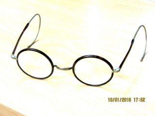Antiker Kneifer Nickelbrille Brille Alt Schildpatt Horn Optik Selten Germany Bild