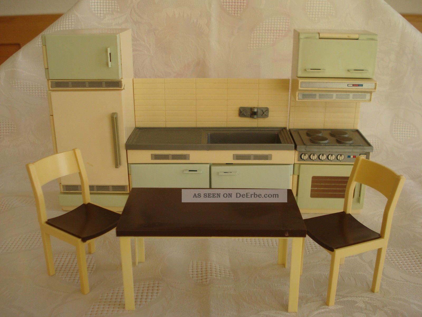 Puppenhaus Küche 60er - 70er Jahre / Kühlschrank / Spüle ...