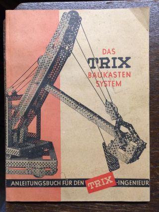 Trix Baukastensystem Mit Anleitungsbuch,  Metallbaukasten Bild