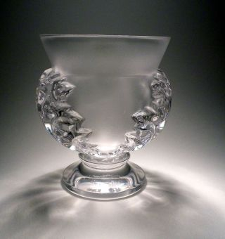 Lalique Saint Cloud Vase St.  Cristal Paris France 12 Cm 800gr. Bild