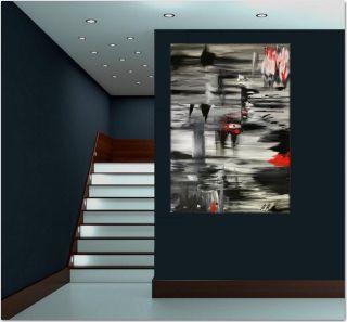 Gemälde 3d Xxl Rot Abstrakt Art Unikat Modern Kunst Bild Leinwand Moucha 2015 Bild