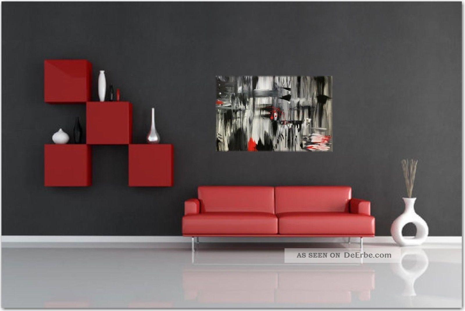Gemälde 3d Xxl Rot Abstrakt Art Unikat Modern Kunst Bild ...