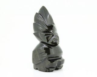 Kräftige Obsidian Figur - Aus Mexiko - Ca.  10cm Hoch Und 232g Schwer Bild