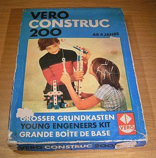 1.  234.  22.  9 Ddr Baukasten Vero Construc 200 Großer Grundbaukasten,  Vollständig Bild