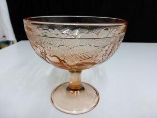 1 Alte Rosalin Glasschale,  Fußschale,  Pressglas, Bild