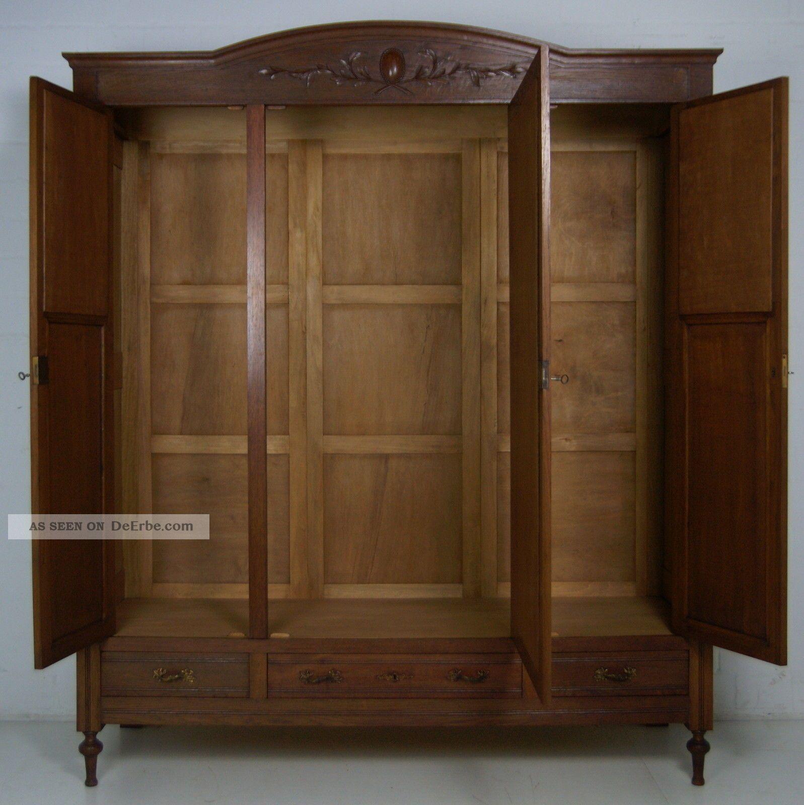 antik dielenschrank eiche massiv art d co kleiderschrank jugendstil um 1925. Black Bedroom Furniture Sets. Home Design Ideas